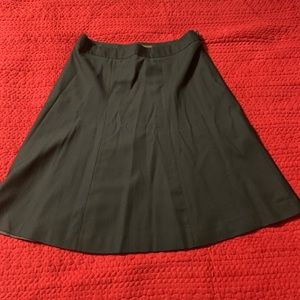 Black A lined skirt